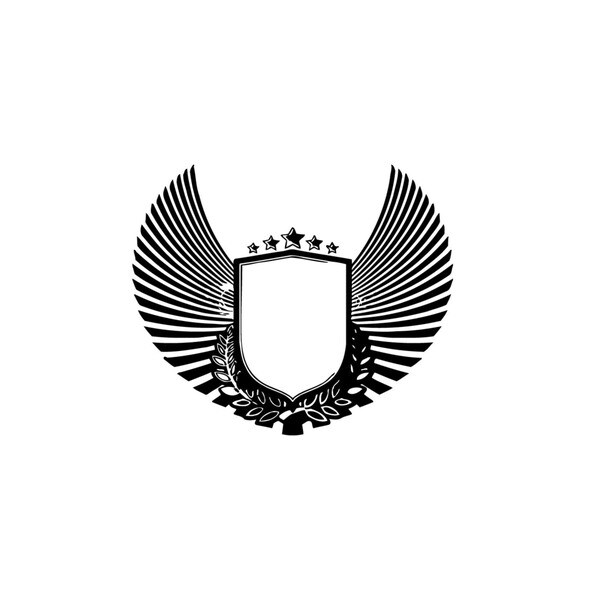 Shield with Wings Vinyl Wall Art