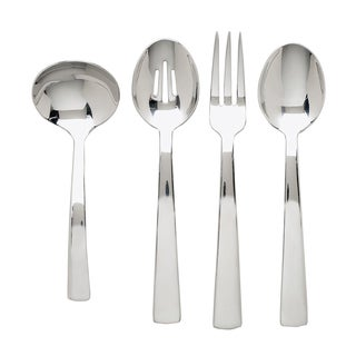 Ginkgo Burton 4-piece Stainless Steel Hostess Serving Set