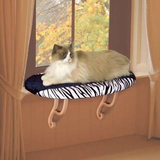 K&H Pet Products Kitty Sill Zebra Bed