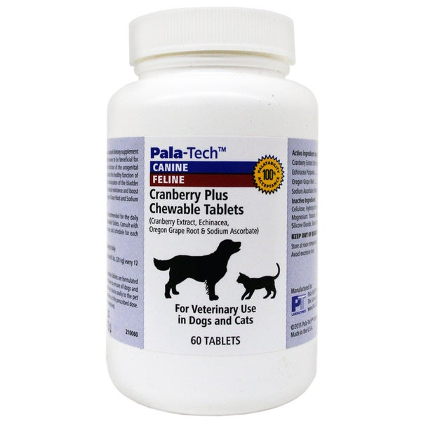 Pala-Tech Cranberry Plus Chewable Tablets for Dogs and Cats