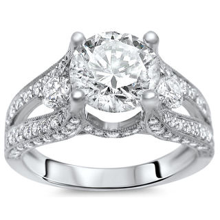 Noori 18k White Gold 2 ct Clarity Enhanced Diamond Ring (G-H, SI1-SI2)