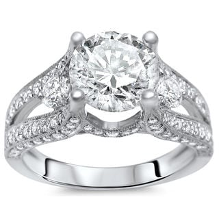 18k White Gold 2.10ct Clarity Enhanced Diamond Ring (G-H, SI1-SI2)