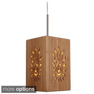 Lighthouse 1-light Radiance Large Bamboo Mini Pendant