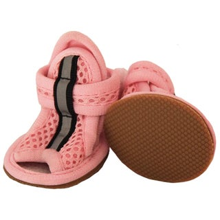 Pet Life Light Pink Sporty Mesh Pet Sandals (Set of 4)