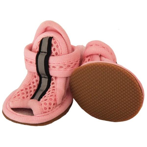 Pet Life Light Pink Sporty Mesh Pet Sandals (Set of 4)