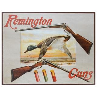 Vintage Metal Art 'Remington Guns' Decorative Tin Sign