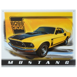 Vintage Metal Art 'Mustang' Decorative Tin Sign