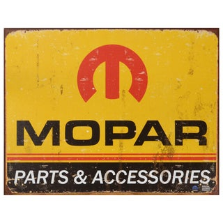 Vintage Metal Art 'Mopar' Decorative Tin Sign