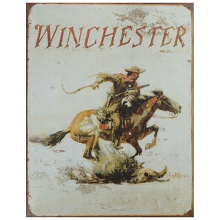 Vintage Metal Art 'Winchester' Decorative Tin Sign