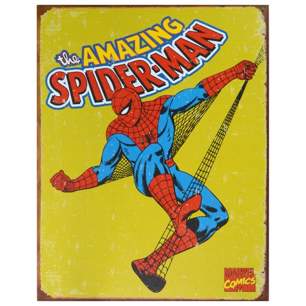 Vintage Metal Art 'Spiderman' Decorative Tin Sign 13174667