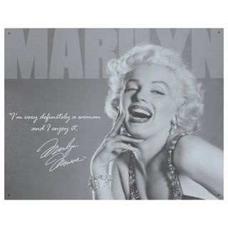 Vintage Metal Art 'Marilyn Monroe' Decorative Tin Sign