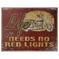 Vintage Metal Art 'Life' Decorative Tin Sign