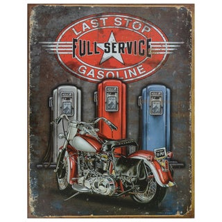 Vintage Metal Art 'Last Stop' Decorative Tin Sign