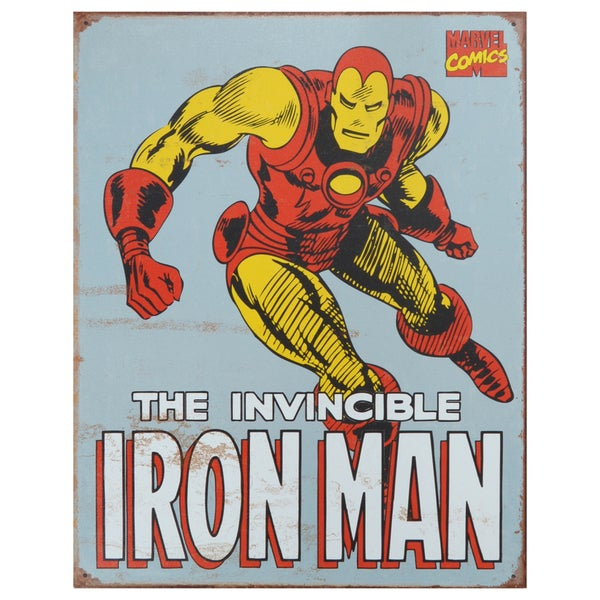 Vintage Metal Art 'Iron Man' Decorative Retro Tin Sign 13174679