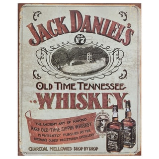 Vintage Metal Art 'Jack Daniels' Decorative Tin Sign