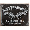 Vintage Metal Art 'Don't Tread on Me' Decorative Tin Sign