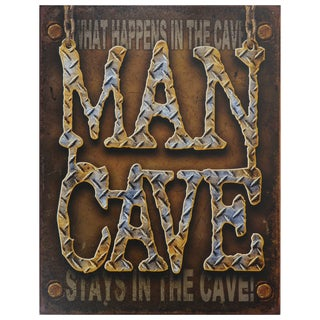 Vintage Metal Art 'Man Cave' Decorative Tin Sign