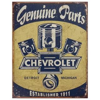 Vintage Metal Art 'Chevrolet' Decorative Tin Sign