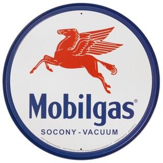 Vintage Metal Art 'Mobilgas' Decorative Tin Sign