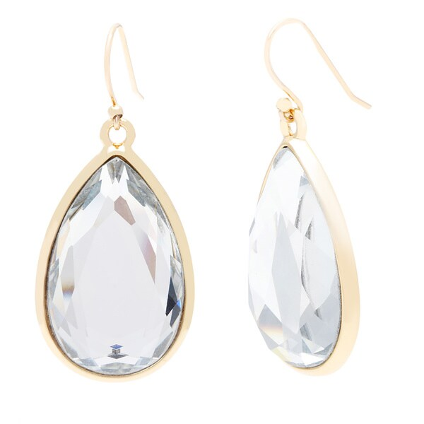 kate spade Clear Glass Teardrop Dangle Earrings