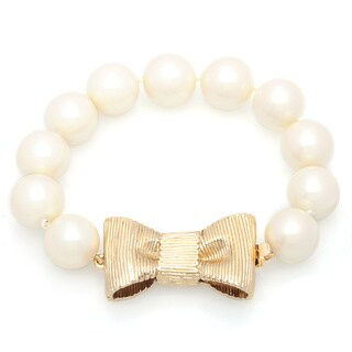 kate spade 'All Wrapped Up' Goldtone Metal and Faux Pearl Bracelet