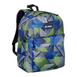 Everest Pattern Printed Backpack (Set of 2) Blue/Green Geometric