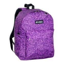 Everest Pattern Printed Backpack (Set of 2) Purple Vines
