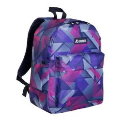 Everest Pattern Printed Backpack (Set of 2) Purple/Pink Geometric