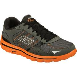 Men's Skechers GOwalk 2 Flash Charcoal/Orange