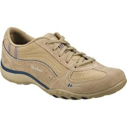 Women's Skechers Relaxed Fit Breathe Easy Just Relax Stone/Navy