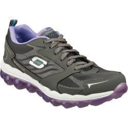 Women's Skechers Skech-Air Charcoal/Purple
