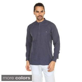 In-Sattva Anita Dongre Men's Pullover Mandarin Collar Tunic (India)