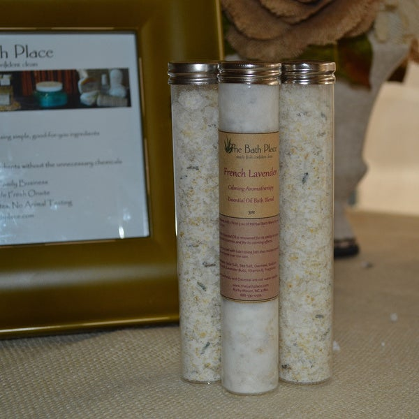 Natural Lavender and Oatmeal Aromatherapy Bath Blends (3 Tubes)