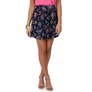 Hailey Jeans Co. Junior's Casual Floral Print Skirt