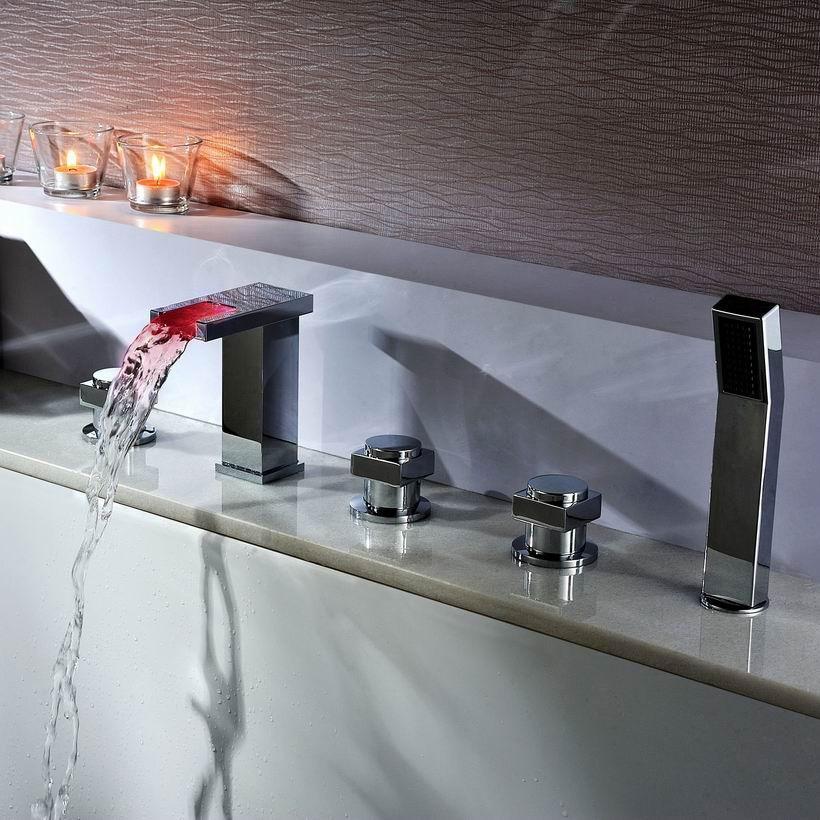 sumerain LED Thermal Waterfall Bathtub Faucet