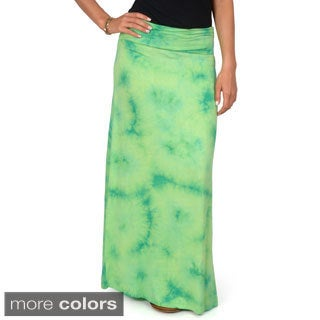 Hailey Jeans Co. Junior's Fold-over Tie-Dye Maxi Skirt
