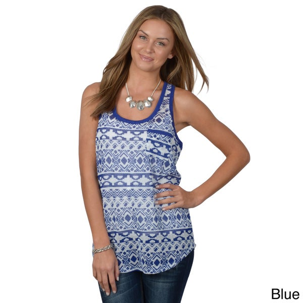 Hailey Jeans Co. Junior's Mesh Racerback Tank Top