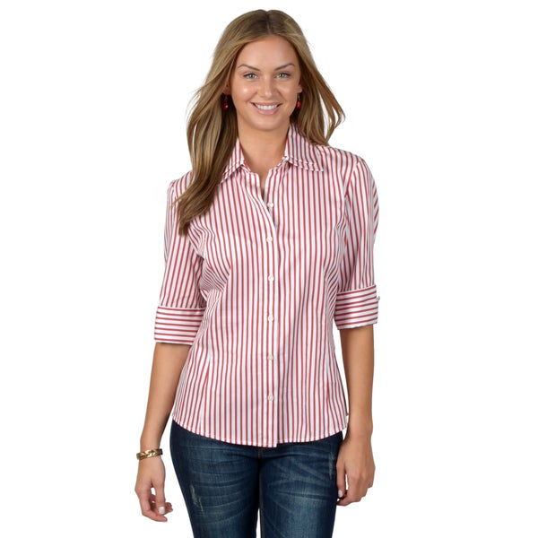 Journee Collection Women's Double Collar Button-up Shirt