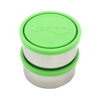 Kids Konserve Round Medium 8-ounce Containers in Lime (Set of 2)