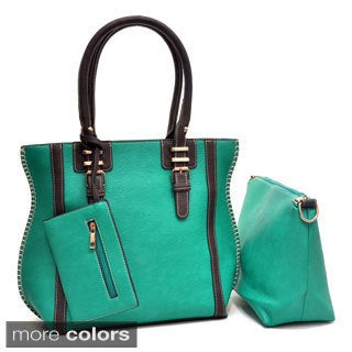 Trois Partie 3-in-1 Tote and Messenger Bag Combo