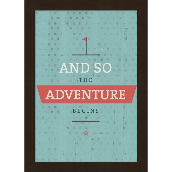 American Flat 'The Adventure Begins' Framed Art