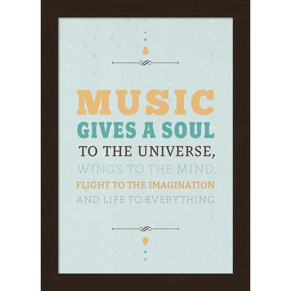 American Flat 'Music Gives a Soul' Framed Art