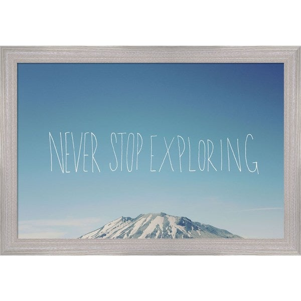 Leah Flores 'Never Stop Exploring' Framed Art