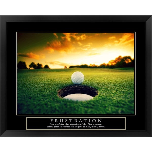 Handmade 'Frustration - Golf Ball' Framed Art