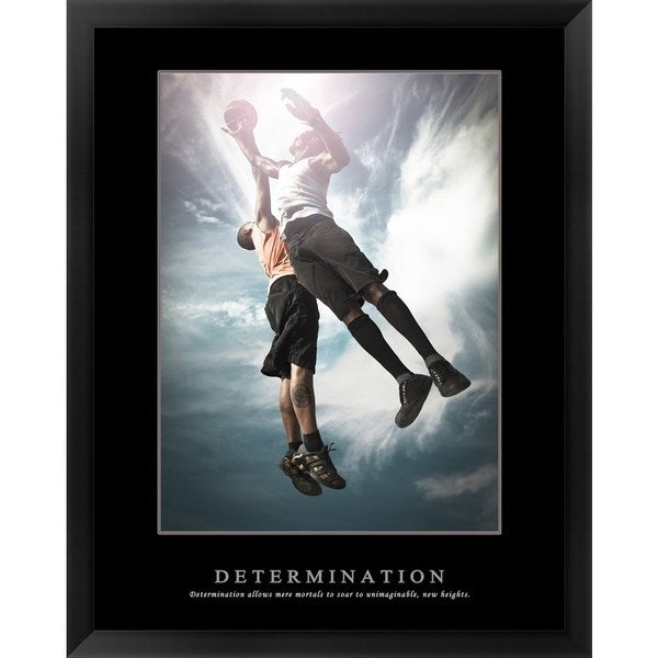 Handmade 'Determination - Basketball' Framed Art