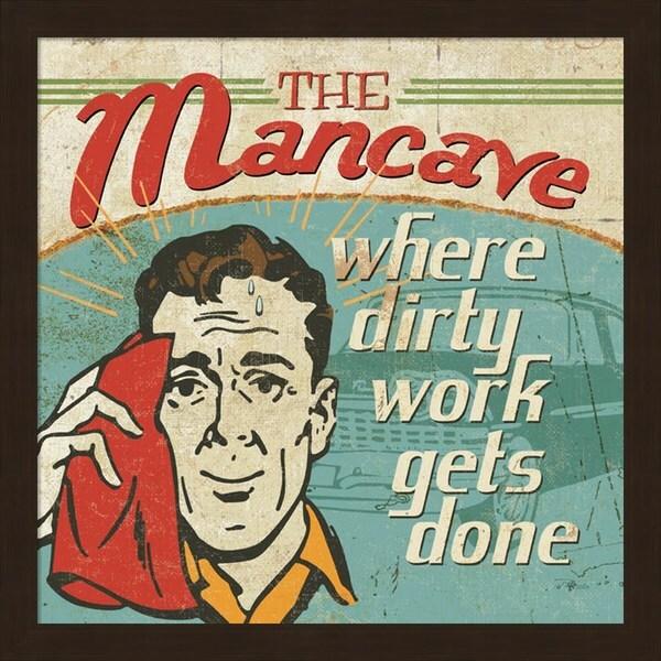 Pela Studio 'Mancave III - Where Dirty Work Gets Done' Framed Art