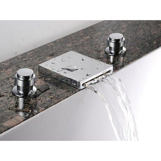 Sumerain Widespread Waterfall Basin Tub Faucet