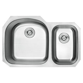Lottare 800107 B&B Series Double Bowl Stainless Steel Undermount Kitchen Sink