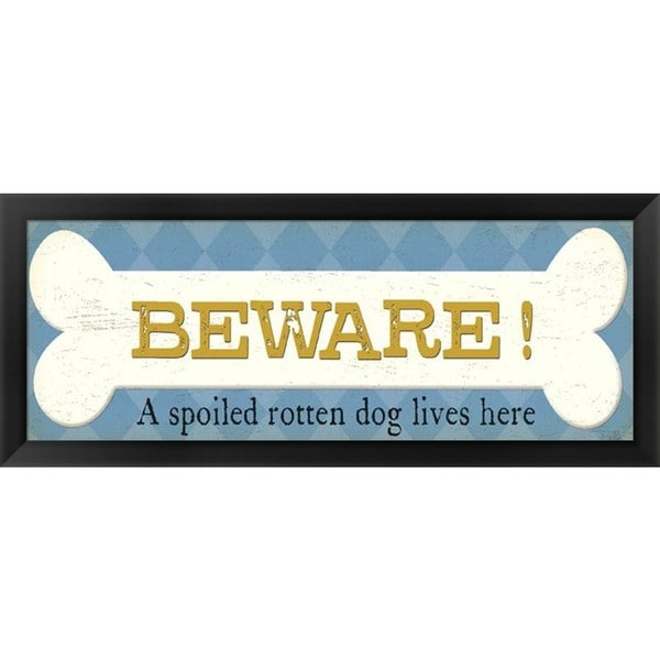 Alain Pelletier 'Beware' Framed Art