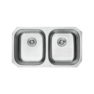 Lottare 800104 B&B Series Double Bowl Stainless Steel Undermount Kitchen Sink